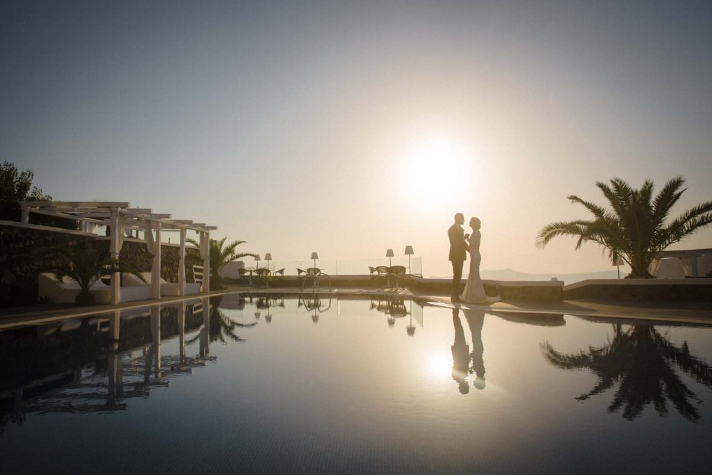 Beautiful Santorini destination wedding