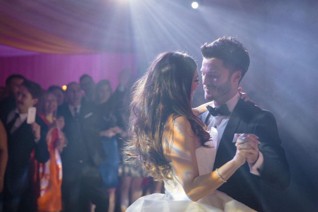 Photograph of first dance at a wedding