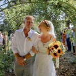 Couple just married on destination wedding in france